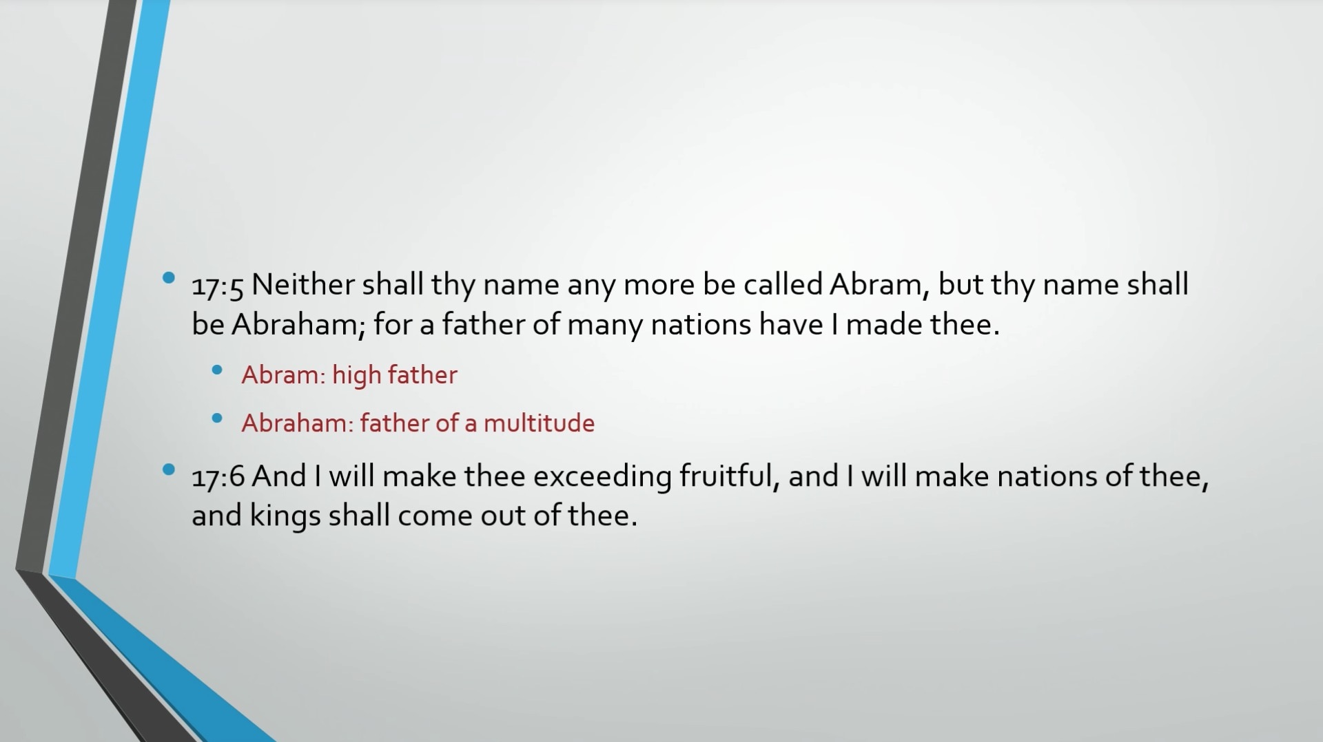 Biblical Series X: Abraham: Father of Nations Transcript