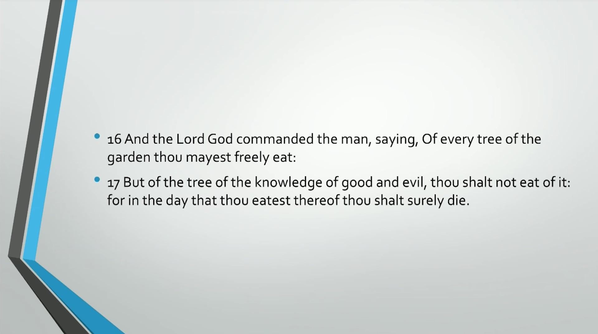 Bible Series IV: Adam & Eve: Self-Consciousness, Evil, & Death