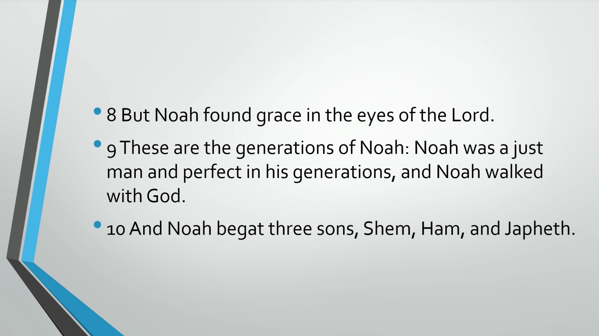 Biblical Series VII: Walking with God: Noah and the Flood Transcript