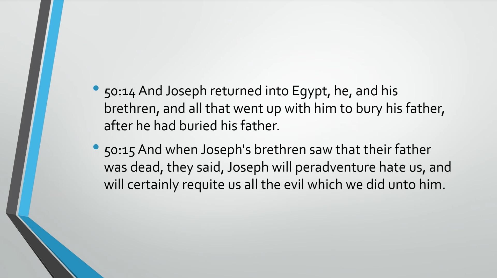 Biblical Series XV: Joseph and the Coat of Many Colors Transcript