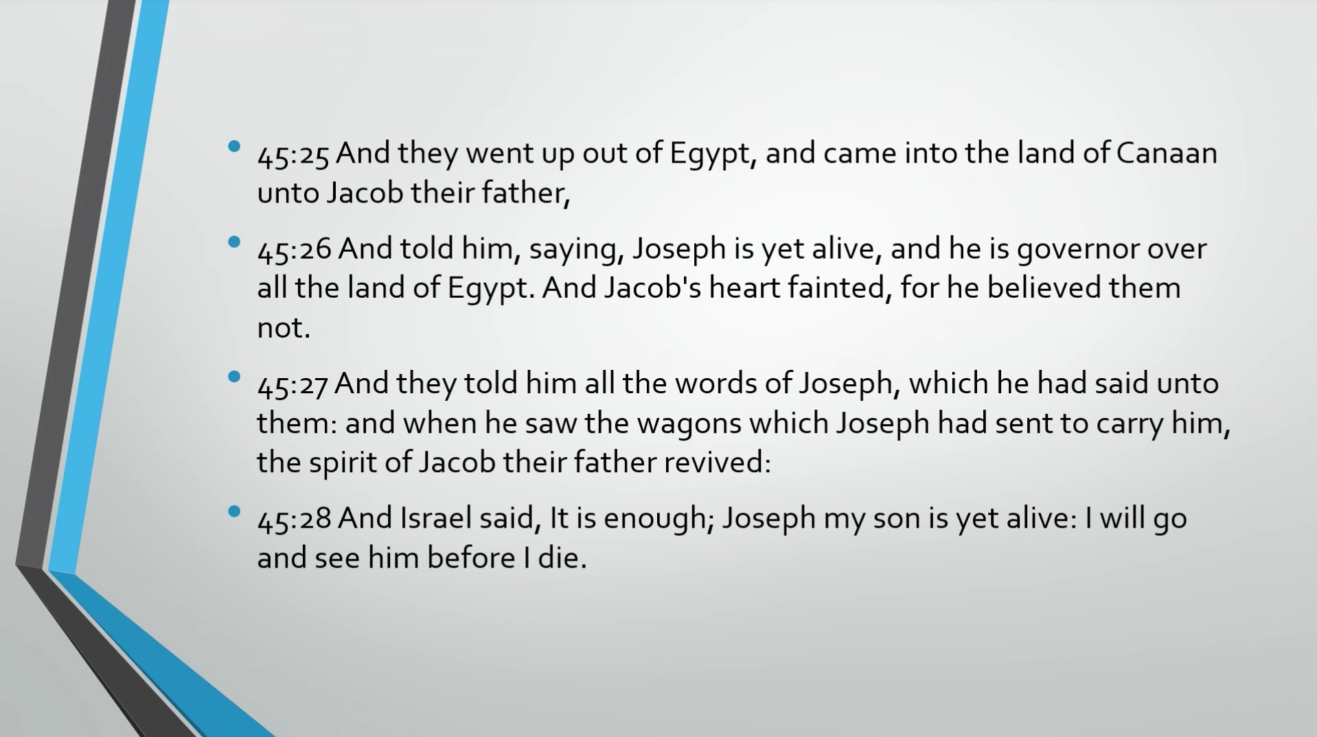 Biblical Series XV: Joseph and the Coat of Many Colors Transcript